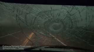MONSTER Hail!!  Extreme Tornado Tours pummeled by softball size hail