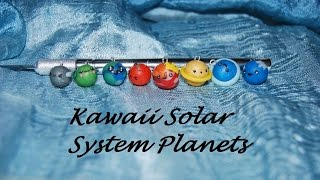 ☆Kawaii Solar System Planets - Polymer clay charms☆