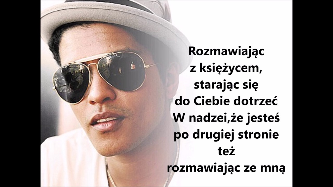 Bruno Mars Talking To The Moon Tlumaczenie Pl Youtube