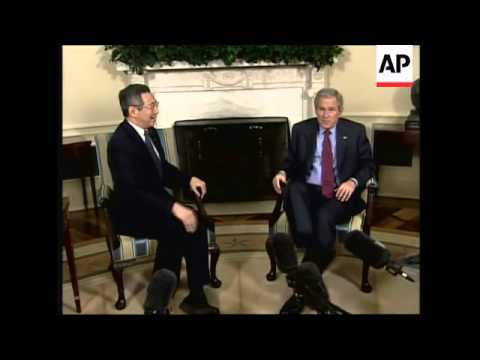 Bush meets Singaporean PM