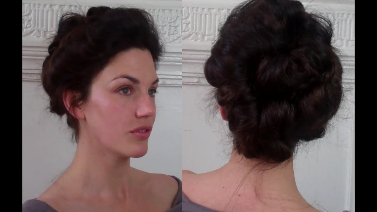 Pompadour & Puffs an Edwardian Updo Tutorial (meduim long hairstyle ...