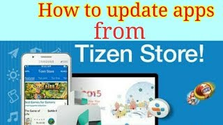 How to update apps from Tizen store