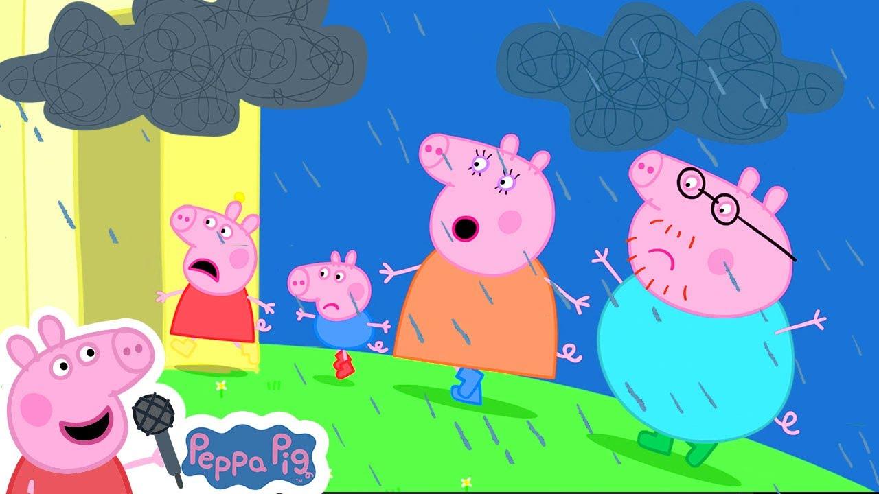 Peppa Pig Official Channel | Rain, Rain, Go Away Nursery Rhymes + Kids Songs