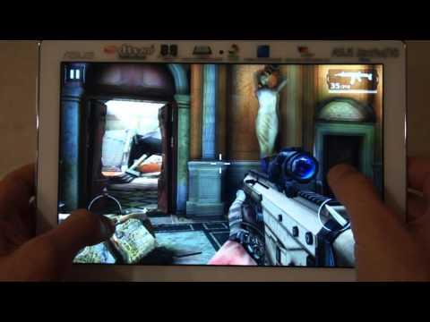 ASUS ZenPad 10 Z300C Modern Combat 5 GamePlay