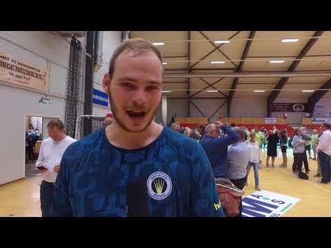 Interview med Mike Jensen efter sejren over Århus