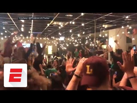 See Fans React to Loyola-Chicago upsetting Tennessee!