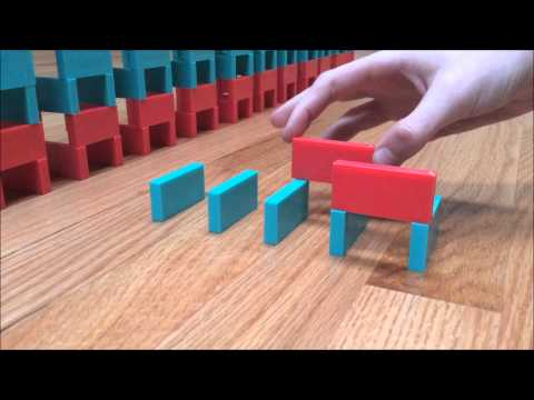 How to make a domino tower