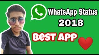 Best app For WhatsApp Status 2018