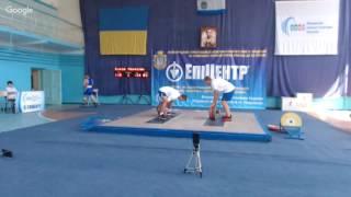 Чемпіонат України серед молоді до 23 років з важкої атлетики 2016. В/к 85 кг