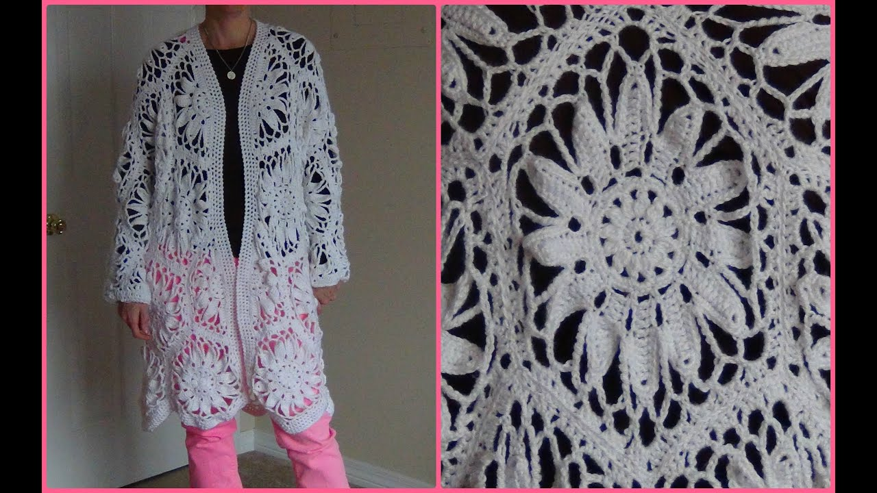 how to crochet a jacket using hexagon motifs part 1