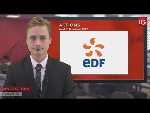 Bourse - Action EDF,a profité d'une recommandation - IG 07.12.2017