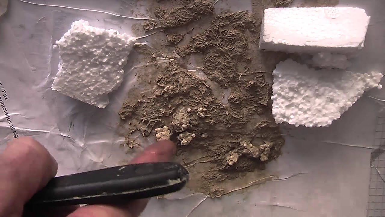 Mache rock textures youtube for Papier mache rocks