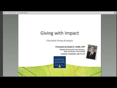 Trust Education: Giving with Impact by National Advisors Trust Company