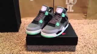 Jordan Green Glow 4 (Unboxing) & (review) (HD)