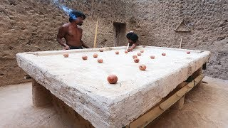 Most Unique Creative! Made Snooker Table By Mud