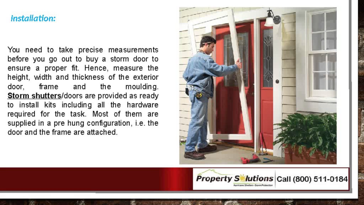 How To Select And Install A Storm Door Youtube