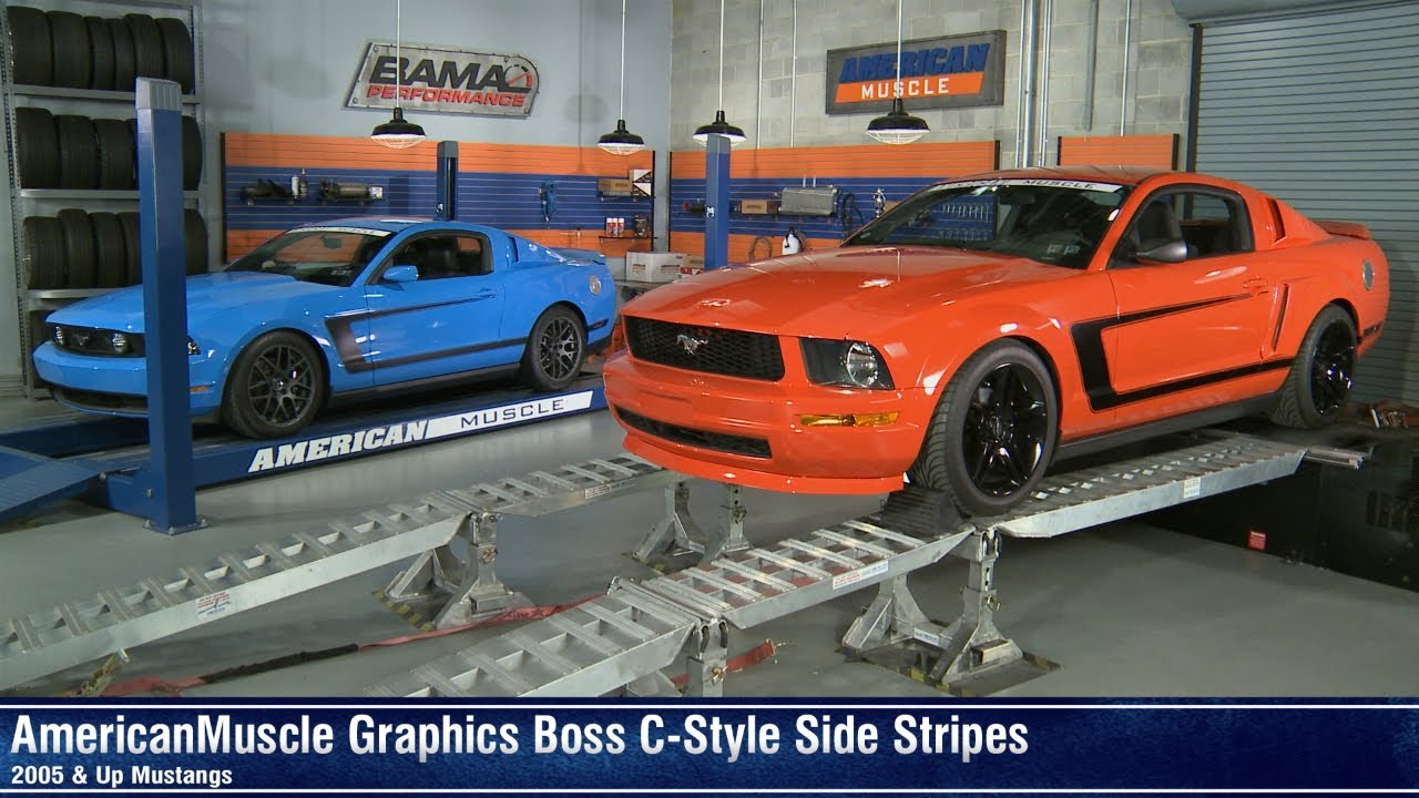 Mustang Boss C Style Side Stripe 05 14 All Review Youtube
