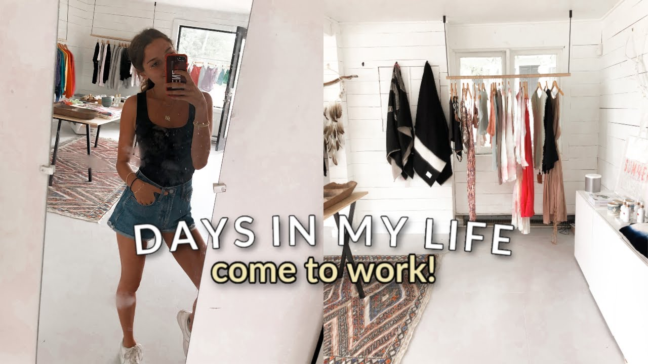 VLOG: come to work with me