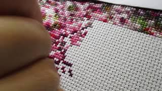 Живой процесс вышивки крестиком АСМР ноябрь