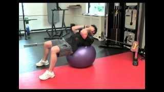 Acceleration Vest-Swiss Ball Sit-Ups