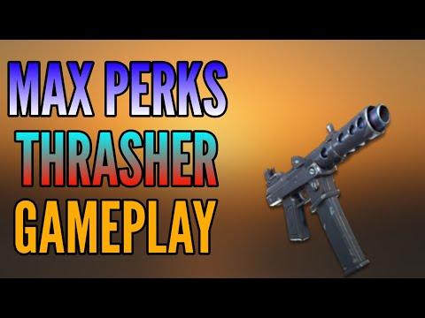 Max Perks Level 130 Thrasher SMG Gameplay - Fortnite Save The World
