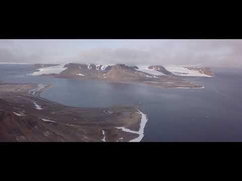 Арктические просторы архипелага Земля Франца-Иосифа с высоты птичьего полета