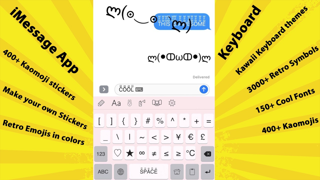 Symbol Infinity 400 Kaomoji Stickers For Imessage And Make Your