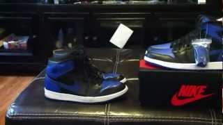 Nike Air Jordan 1 Black/Royal 2001 vs. 2013 Release