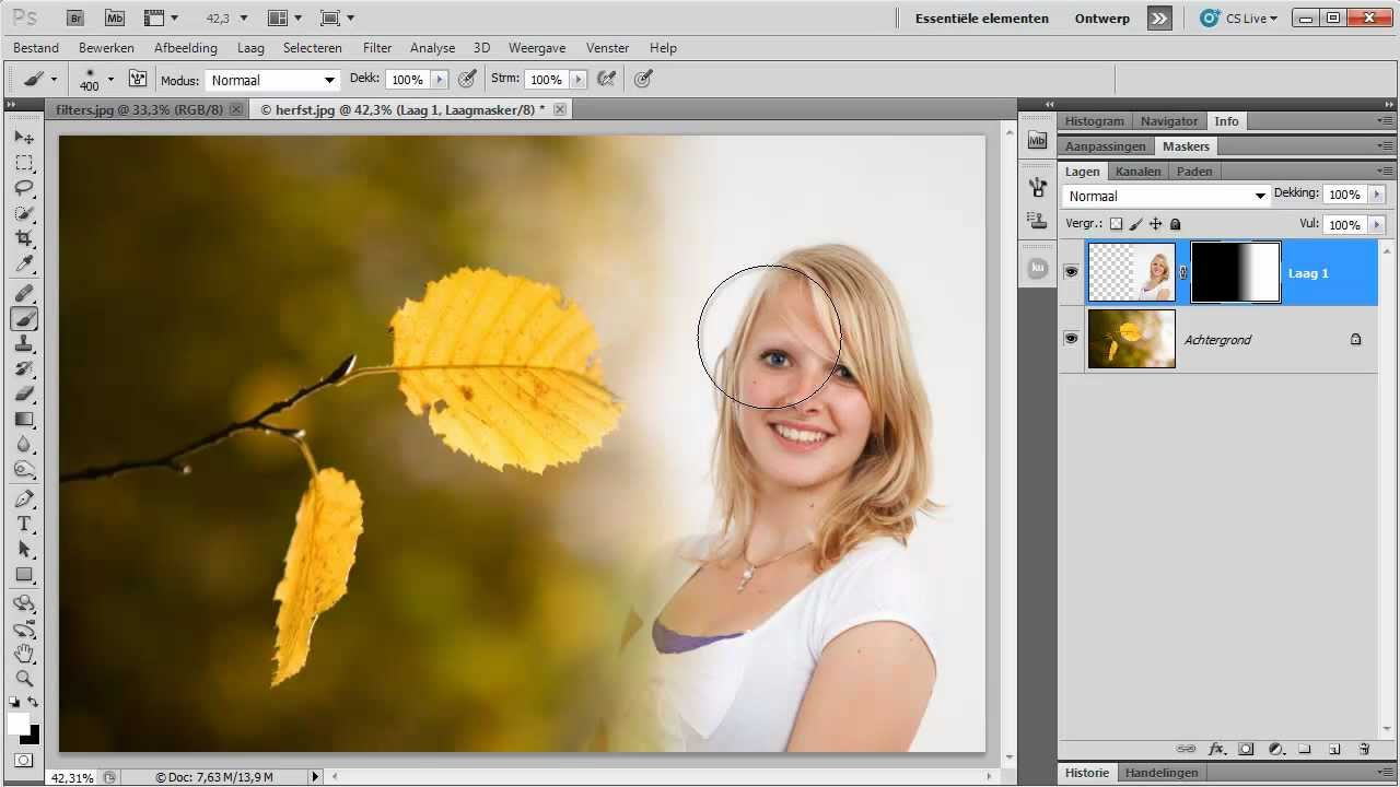 Verloop en maskers in Photoshop  YouTube