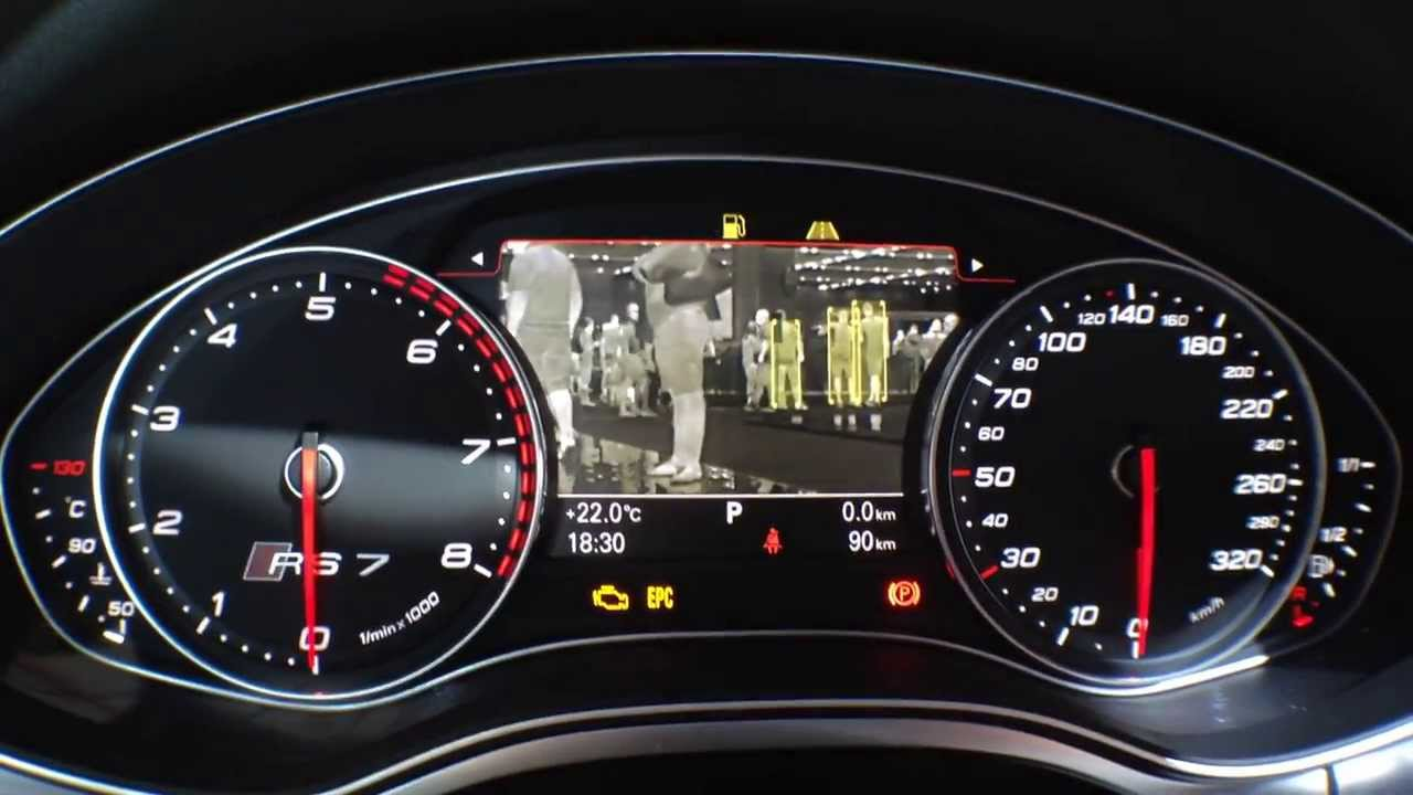 Audi Rs7 Night Vision Youtube