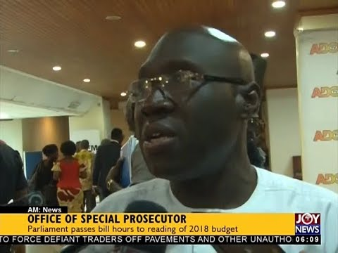 Office of Special Prosecutor - AM News on JoyNews (15-11-17)