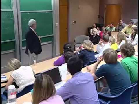 Newt Gingrich teaching a classroom