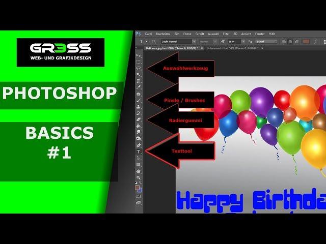 Tutorial Photoshop Basics #1 Text hinzufügen - Anfänger