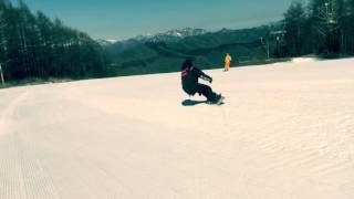 ハンターマウンテンで楽しくスノーボードしました! 黒沢新のゆったりブ...