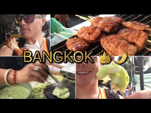BANGKOK STREET FOOD LIVE 🍖🏙🔥 A #FIRE Foodporn Thailand Munchies Tour🌶 [Travel Vlog 2016]