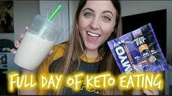 Keto Full Day of Eating | EAS Myoplex Keto Shake Review