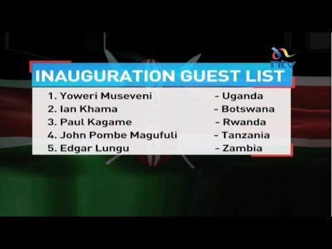Delegations from 43 countries expected to attend Uhuru Kenyatta's swearing in