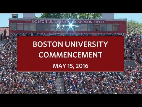 Boston University Commencement 2016
