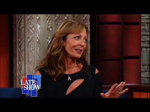 Allison Janney and Stephen Colbert Totally Kiss!