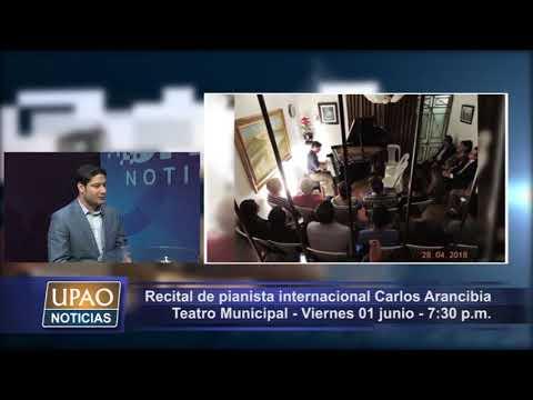 Entrevista 11/05/18 - Pianista Carlos Arancibia ofrecerá Recital en Teatro Municipal de Trujillo
