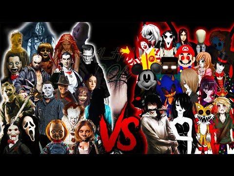 IT SAW CHUCKY JASON&FREDDY VS. SLENDER JEFF HEROBRINE ZALGO RAP || (Especial Halloween 2017)
