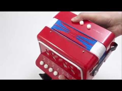 Accordion Musical Instrument Toys Children 7 Keys Colors