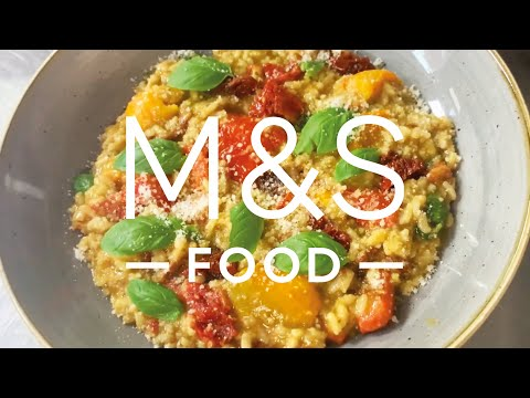 Chris' Hearty Veggie Risotto   M&S FOOD