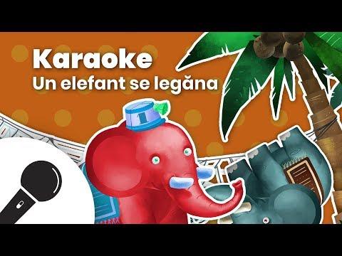 UN ELEFANT SE LEGANA: Negativ Karaoke + Versuri  Planeta Vesela - Cantece pentru copii in limba romana