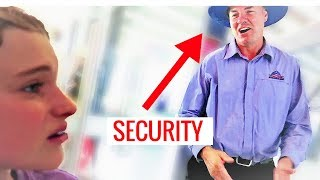 *SECURITY GUARD* KICKED OUT AT THE CRICKET || Kid Surfer Sabre Norris from TheEllenShow ||