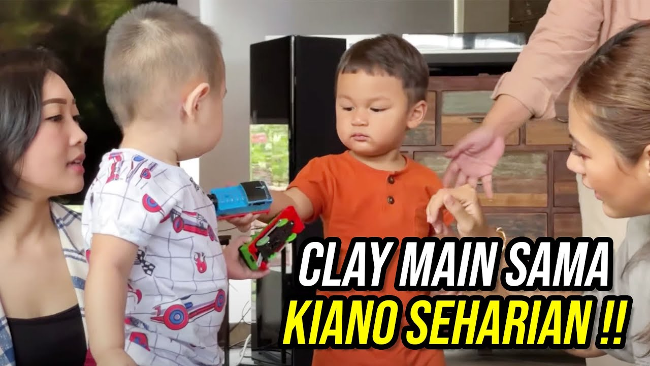 Download CLAY SEHARIAN MAIN SAMA KIANO !! DUA BAYI GEMOY BERSATU !! (PART 2)
