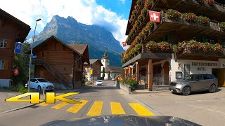 Driving Grindelwald to Lauterbrunnen 4K 60p 🇨🇭