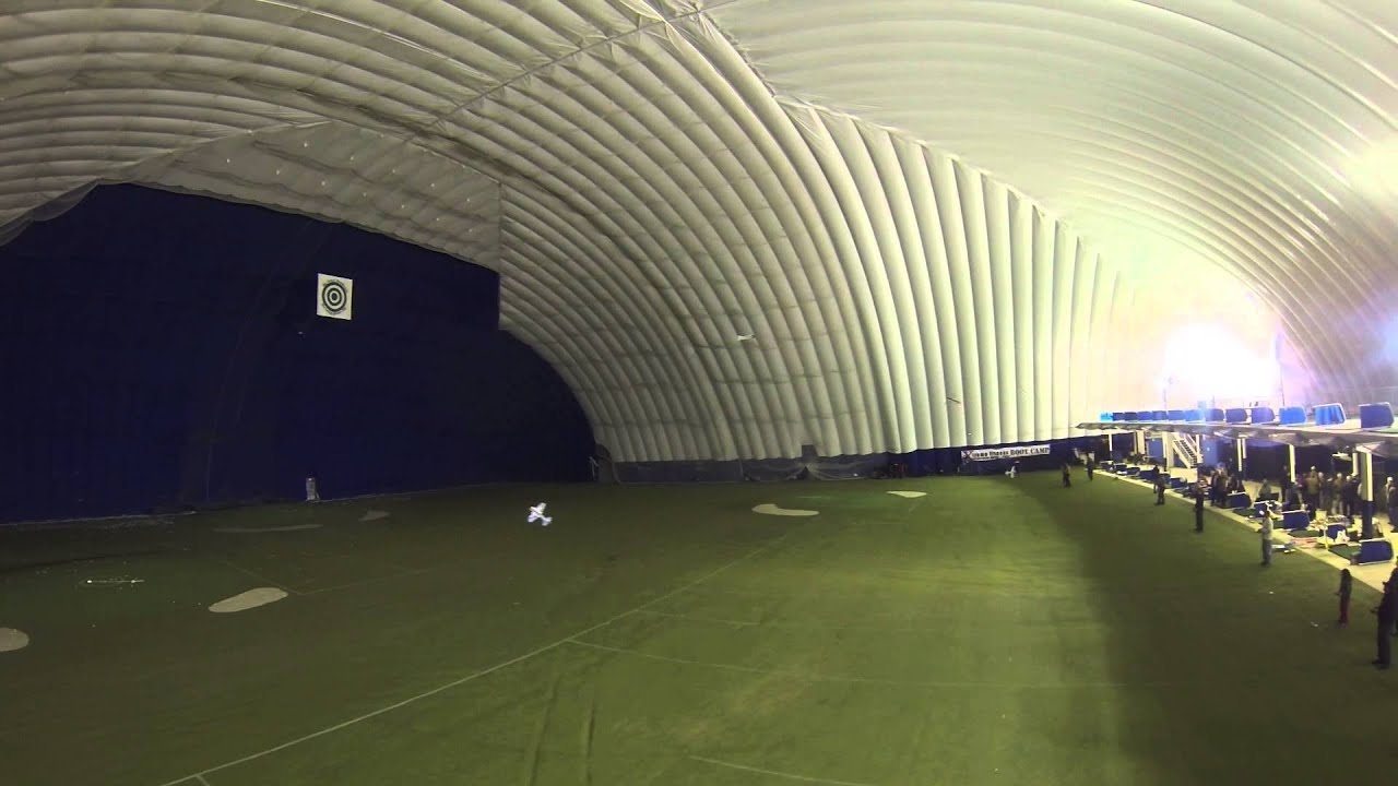 part 2 golf dome flying w/blade 350qx - YouTube
