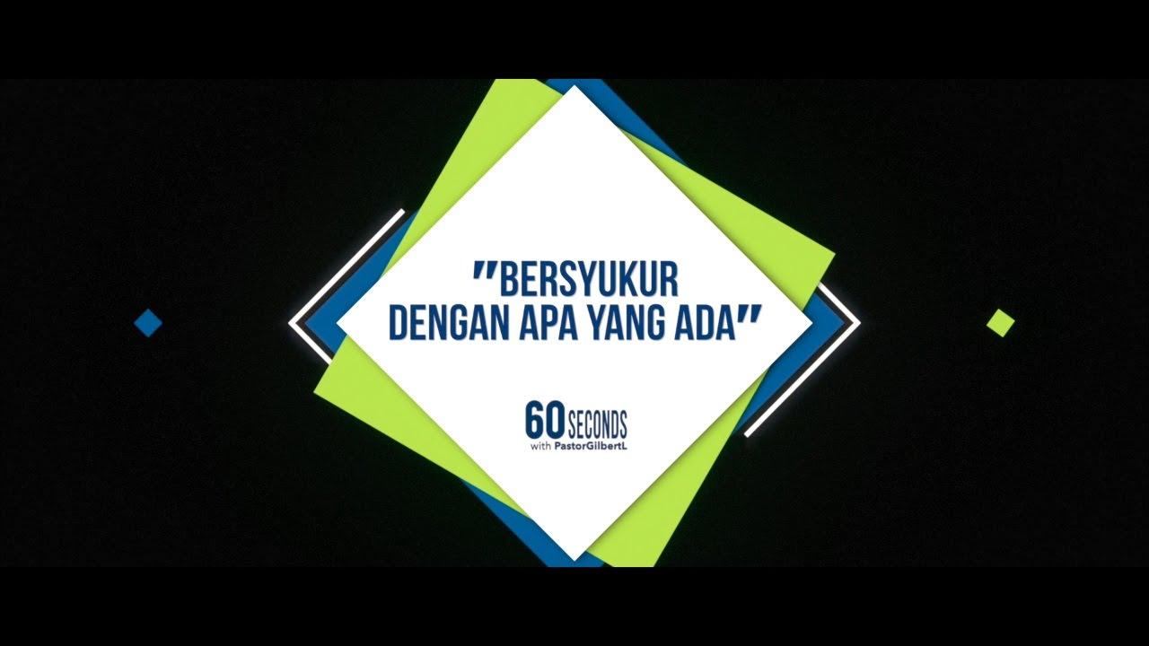 BERSYUKUR DENGAN APA YANG ADA. - YouTube