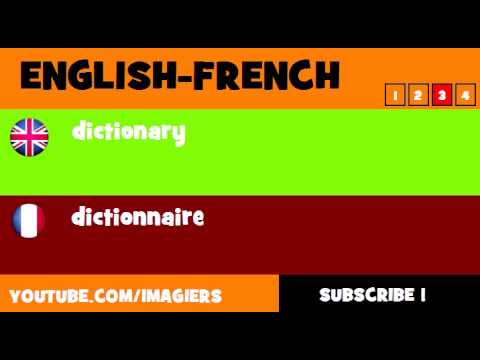 FROM ENGLISH TO FRENCH = dictionary